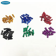 10 Stks/partij Aluminium Fiets Remkabel Tips Crimps Gear Inner Cable End Caps Draad Adereindhulzen(China)