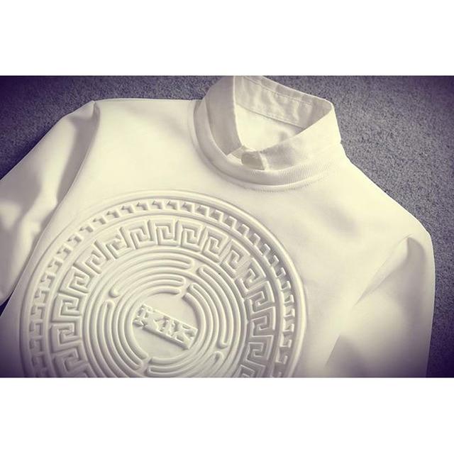 Camiseta de manga larga para hombre, camisa de tendencia de manga larga, jersey de talla grande, estilo coreano guapo, T19, primavera y otoño, 2021 4
