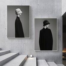 Черно белый мужской модный скандинавский постер настенный художественный
