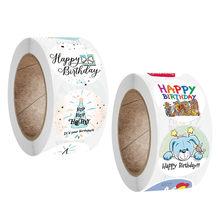 Autocollants joyeux anniversaire 100 – 500 pièces, étiquette de scellage, étiquette de décoration pour cadeau d'anniversaire, autocollants de Scrapbooking pour paquet cadeau jouets pour enfants