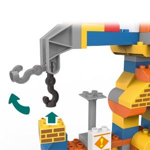 Image 3 - 183 sztuk Big Size budowa miasta DIY koparka pojazdy Bulldoze zestaw klocków Duploed cegły zabawki dla dzieci dziecko dzieci