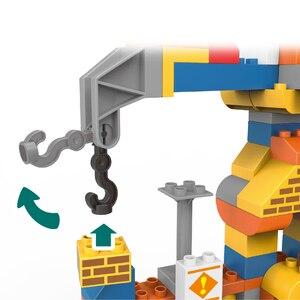 Image 3 - 183pcs גדול גודל עיר בניית DIY חופר כלי רכב Bulldoze אבני בניין סט Duploed לבני צעצועי ילדי תינוק ילדים