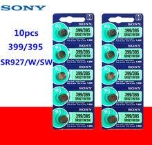 10 pces sony 100% original 395 sr927sw 399 sr927w lr927 ag7 1.55 v relógio bateria sr927sw 395 botão da pilha da moeda feita no japão
