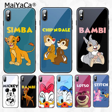 MaiYaCa Mickey Lion King Painted Cover Style Soft Shell Phone Case for Apple iPhone 8 7 6 6S Plus X XS MAX XR