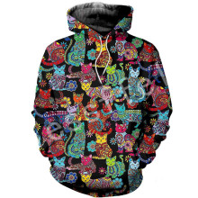 Tessffel Animal Cat Harajuku MenWomen HipHop 3D full Printed Sweatshirts/Hoodie/shirts/Jacket  Casual fit colorful camo Style-9