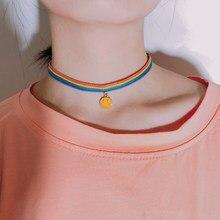 Модное Радужное ожерелье жколье ЛГБТ подарок-скидка ожерелье из ткани ожерелье с персональной информацией аксессуары 2020 новый подарок