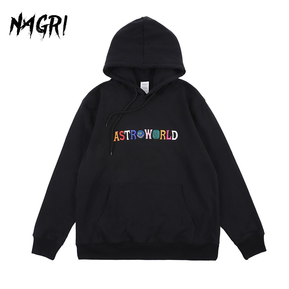 ASTROWORLD Hoodie Sweatshirt Men Women TRAVIS SCOTT Embroidery Letter Print WISH YOU WERE HERE Hip Hop Streetwear Sweatshirts