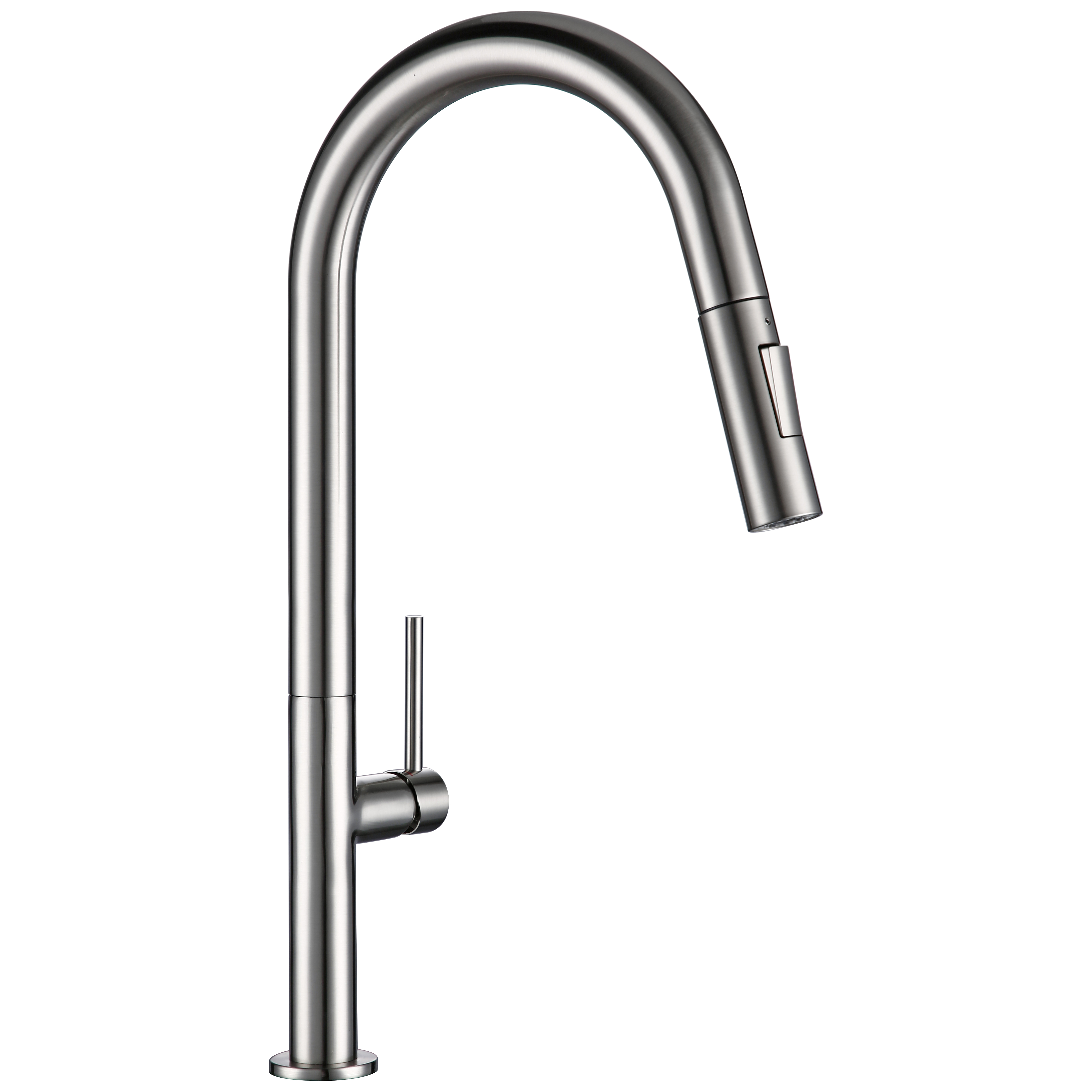 Brass Pull Out Kitchen Faucet Brushed Chrome And Black 360 Degree Rotation Kitchen Hot And Cold Water Sink Taps Kitchen Faucet