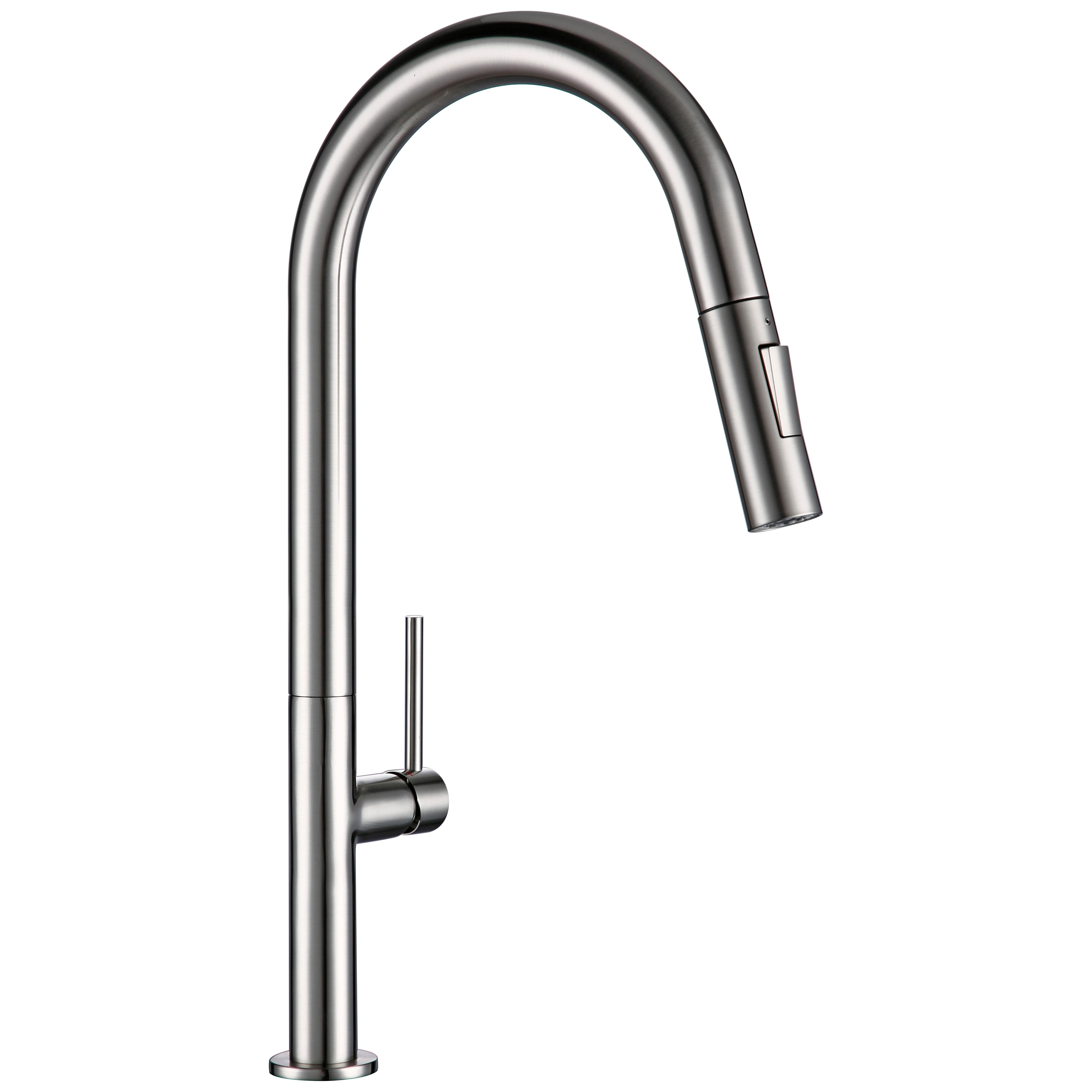 Messing Pull Out Kitchen Wasserhahn Gebürstetem Chrom und Schwarz 360 grad drehung küche Heißes und kaltes wasser Waschbecken wasserhähne Küche wasserhahn