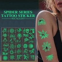 Татуировки Временные женские паук паутина татуировки для детей
