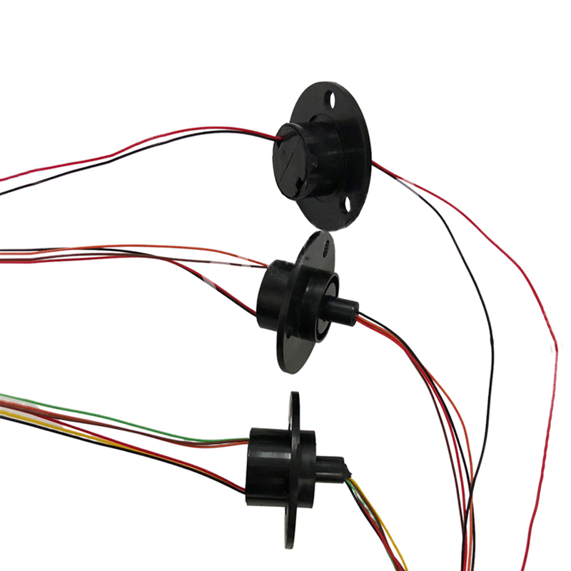 1pc Mini Flange Slip Ring Dia.22mm 2A 2/4/6/8/12/18/24CH Channels Wires Conductive Ring  Brush Slipring Rotating Electric Joint