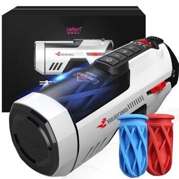 Leten Automatic Telescopic Male Masturbator Heating Strong Sex Machine Sucking Masturbation Cup Moaning Toys for Men