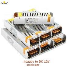 Адаптер питания для светодиодных лент, 220 В переменного тока в 12 В, 5050 А, 2 А, 3 А, 5 А, 10 А, 15 А, 20 А, 30 А, 50 А постоянного тока