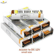AC 220V TO DC 12 V 1.25A 2A 3A 5A 10A 15A 20A 30A 50A Switch led Adapter Driver Power Supply for CCTV 5050 RGB LED Strip Light
