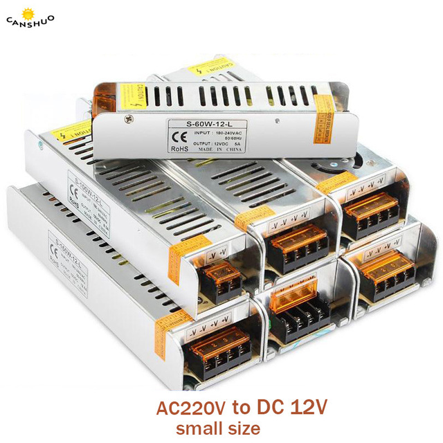 AC 220V TO DC 12 V 1.25A 2A 3A 5A 10A 15A 20A 30A 50A Switch led Adapter Driver Power Supply for CCTV 5050 RGB LED Strip Light