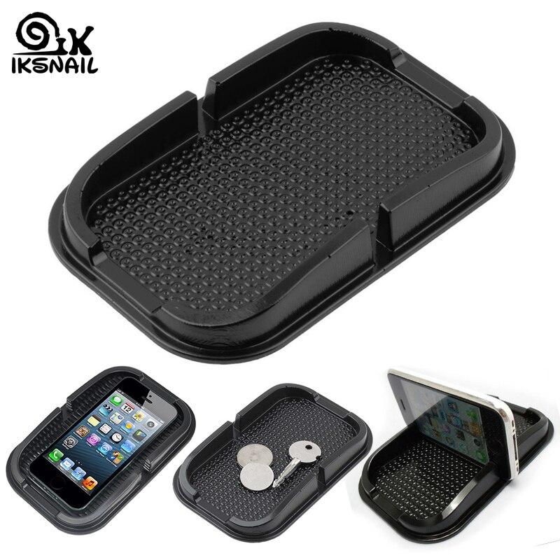 IKSNAIL Universal Car Dashboard Non Slip Grip Pad Phone GPS Holder Mat Anti-skid Silicone Mat Car Anti Slip Mat Car Accessories