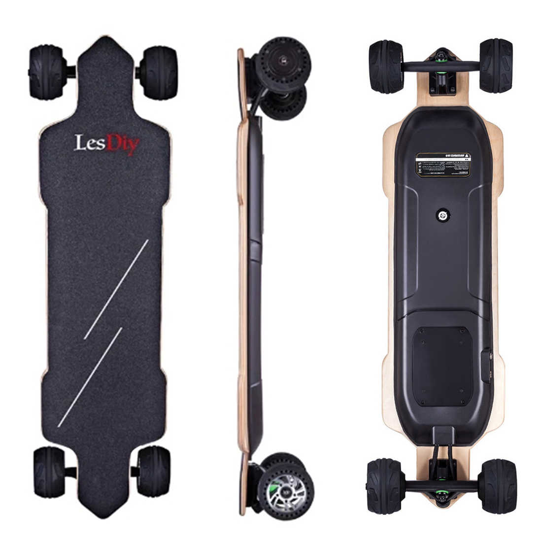 LESDIY Electric Scooter 4-Wheel Electric Skateboard with Four Speed Adjustable Endurance 30km Outdoor Activity Scooter