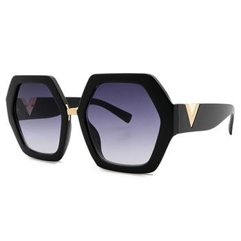 2021 Luxury Square Sunglasses Ladies Fashion Glasses Classic Brand Designer Retro Sun Glasses Women Sexy Eyewear Unisex Shades - Black