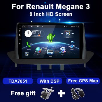 Car Multimedia GPS Android For Renault Megane 3 2009 2010 2011 2012 2013 2014 Video Audio Payer 9 inch Screen Navigation 1DIN image