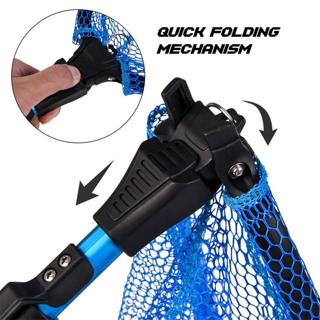 Awesome No1 Folding Fish Landing Net Fishing Accessories cb5feb1b7314637725a2e7: Blue