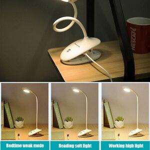 Image 3 - Panasonic Kẹp Để Bàn LED Công Tắc Cảm Ứng 3 Chế Độ Bảo Vệ Mắt Để Bàn Đèn Mờ USB Sạc Đèn Led Để Bàn