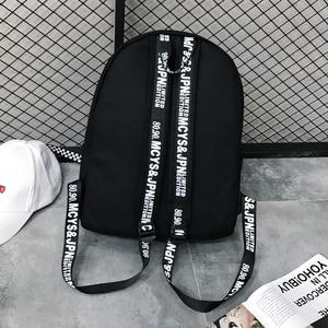 Image 4 - Keten sırt çantası Harajuku tarzı kadın sırt çantası bebek kolye omuzdan askili çanta yüksek kaliteli kız okul sırt çantası Mochila sırt çantası
