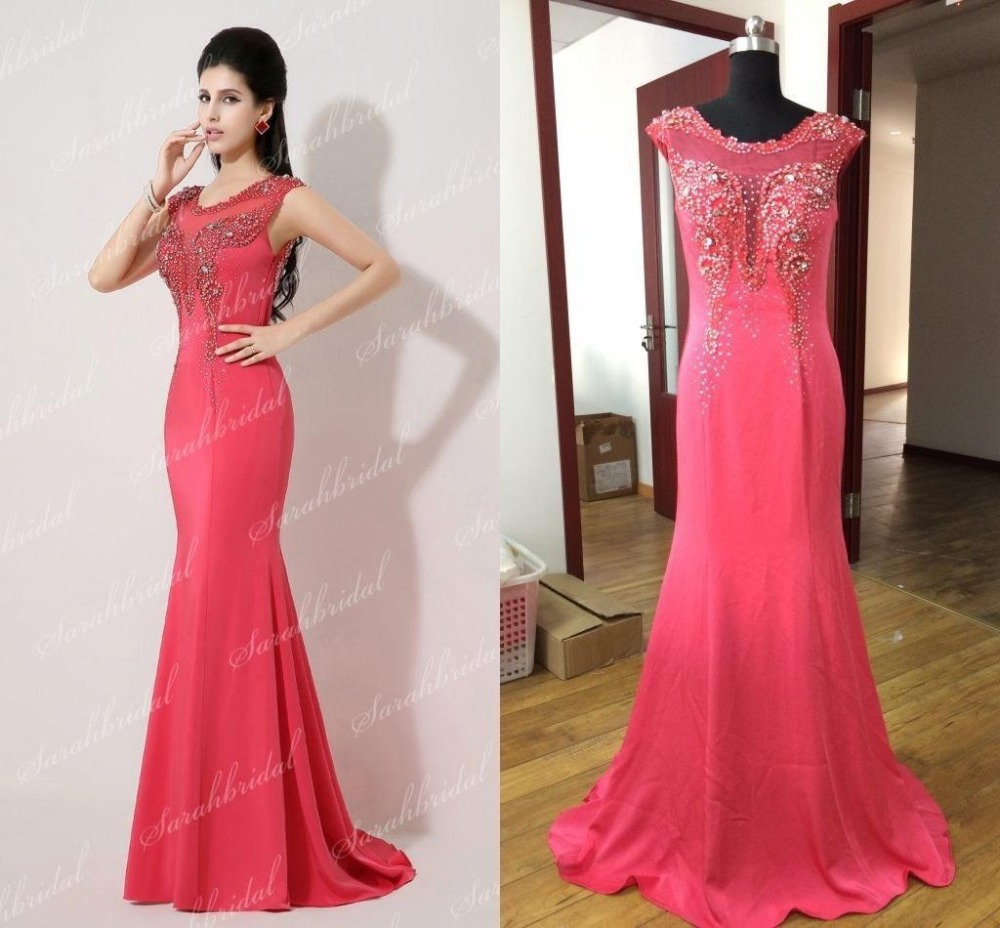 Party Prom Gown Vestido De Renda New Fashion Sexy Women Beading Mermaid Red Long Evening Mother Of The Bride Dress Free Shipping