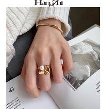 Hangzhi 2020 Новое модное Стильное дизайнерское двубортное перлы