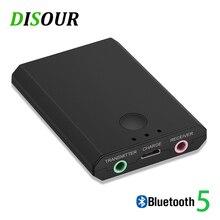 2 で 1 Bluetooth トランスミッター Bluetooth 受信機 3.5 ミリメートルミニステレオ Auido ワイヤレスアダプタテレビ PC 用カーキットスマート電話スピーカー