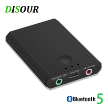 2 em 1 bluetooth transmissor receptor bluetooth 3.5mm mini estéreo auido adaptador sem fio para tv pc carro kit telefone inteligente alto falante