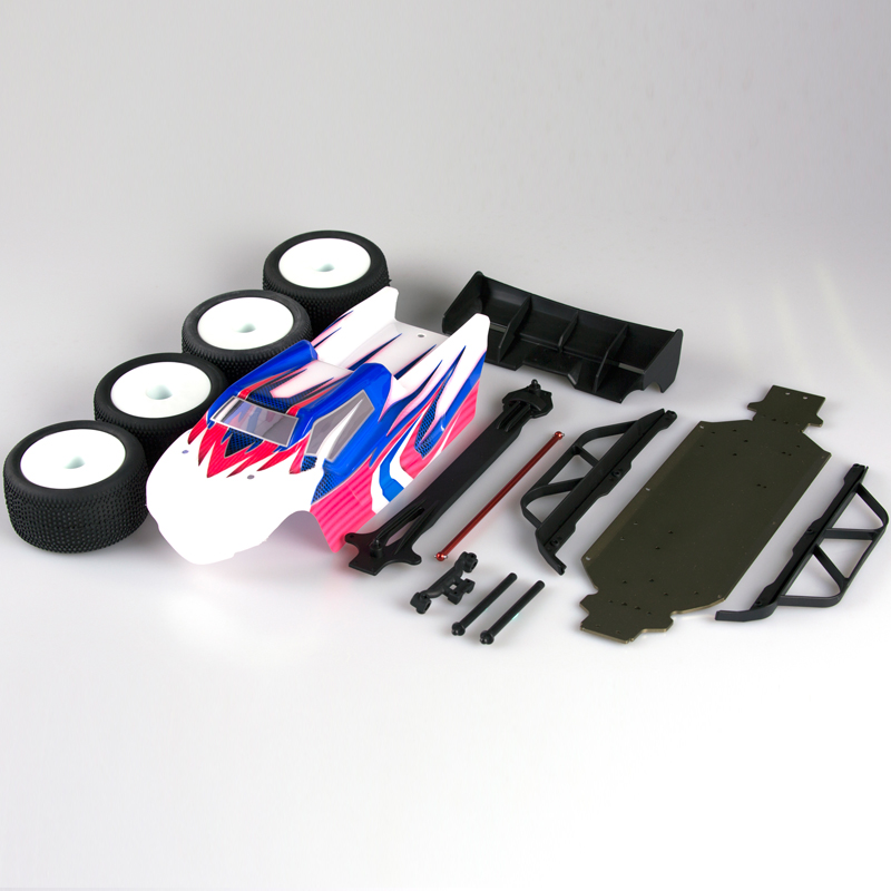 LC RACING L6214 BUGGY-TRUGGY CONERSION KIT(PAINTED BODY)