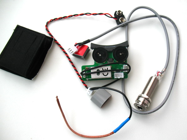 Akustik Gitarren Pickup System für Fishman VT1 Schwanznagel Pickup EQ DIY
