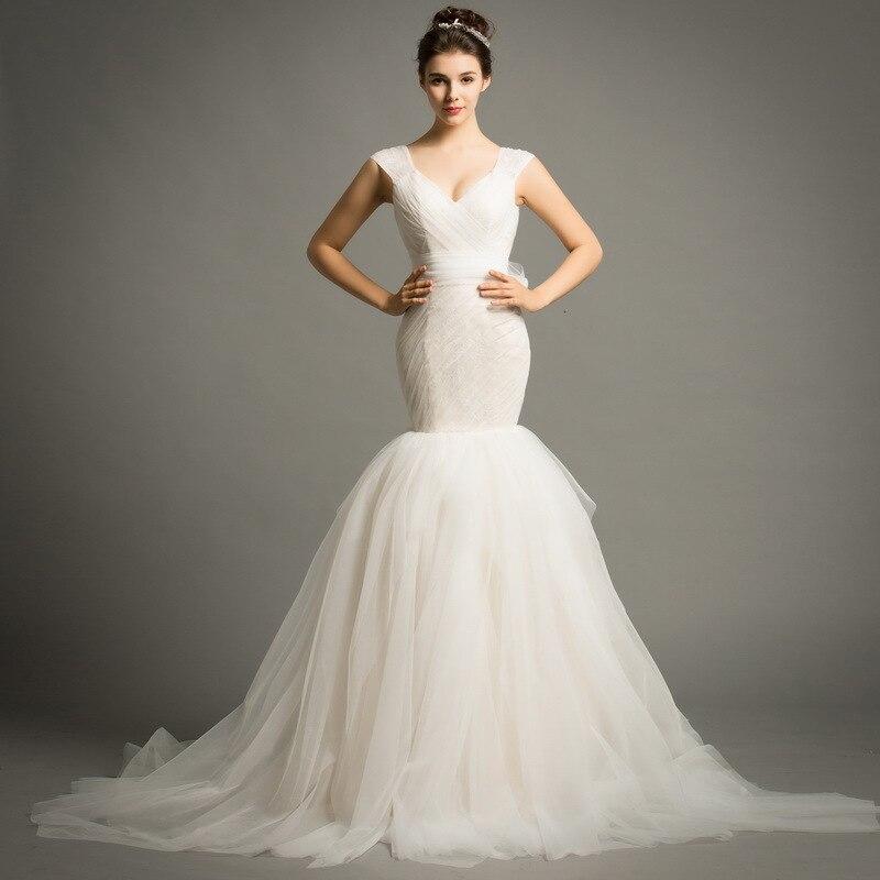 Spaghetti sangle blanc sirène robes De mariée Corset 2020 Vestido De Novia Sexy Spaghetti sangle sirène robes De mariée pour la mariée