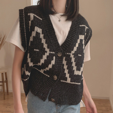 Knitting Vest Sweaters Pullover Wool Loose Autumn New Spring Joker Girls