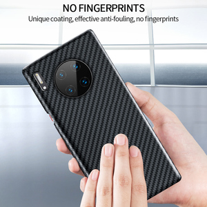 Image 4 - Grma Echte Pure Carbon Fiber Telefoon Back Cover Voor Huawei P40 P30 Mate 30 Pro Case Ultra Dunne Anti Vallen shockproof Telefoon Cover