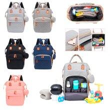 New Baby Diaper Bag Bed Backpack for Mom Maternity Bag for Stroller Nappy Large Capacity Nursing Bag for Baby Care Upgrade Hooks