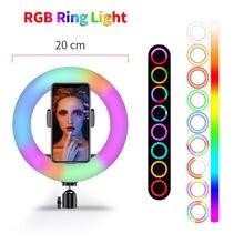 Цветная (rgb) кольцевой светильник с регулируемой яркостью для