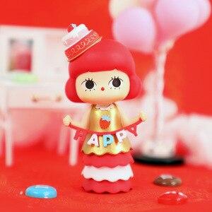 Новинка, красная тема, глухая коробка, 12 видов стилей, кукла, украшение для рабочего стола, бинарная кукла, девочка, подарок на день рождения, ...