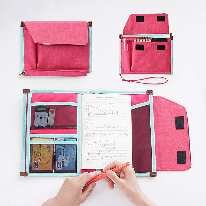 Multi-functional Portfolio Bag A4 Business Document Bag Holder For Books Storage Bag Stationery School Office Supplies Pouch