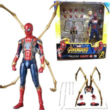 Avengers Endgame Infinity War Spiderman Mafex 081 Ferro Spider Man Action Figure Toy Doll Regalo Per I Bambini(China)