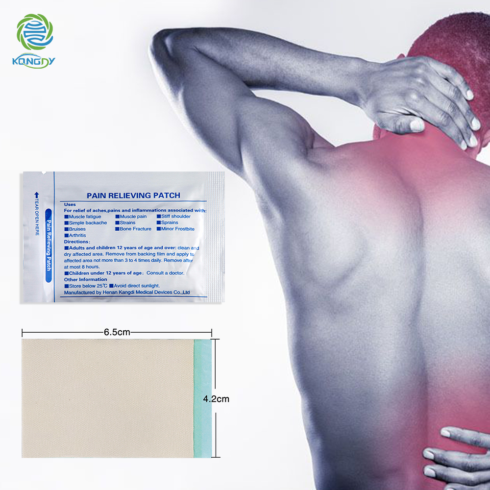 18 Pieces=3 Bags KONGDY Menthol Pain Relief Patch Natural Chinese Herbal Pain Relieve Plaster 6.5*4.2cm Better Than Salonpas