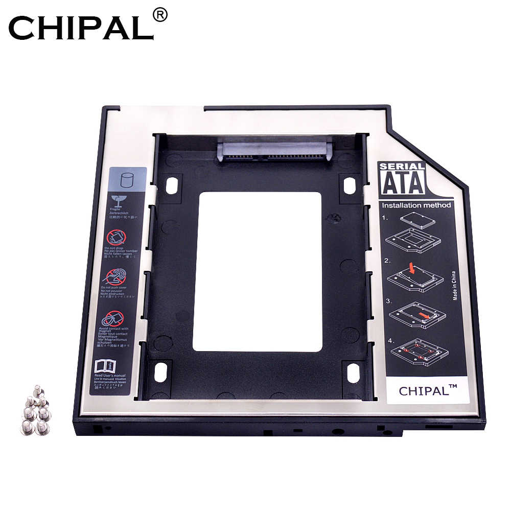 "CHIPAL Universal SATA 3,0 segundo HDD Caddy 9,5mm 9,5 para 2,5 ""SSD caso caja de disco duro portátil de CD, DVD ROM Optibay"