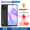Blackview A70 Android 11 Smartphone 6.517 Inch Display Octa Core 3GB RAM+32GB ROM 5380mAh 13MP Rear Camera 4G Mobile Phone 1