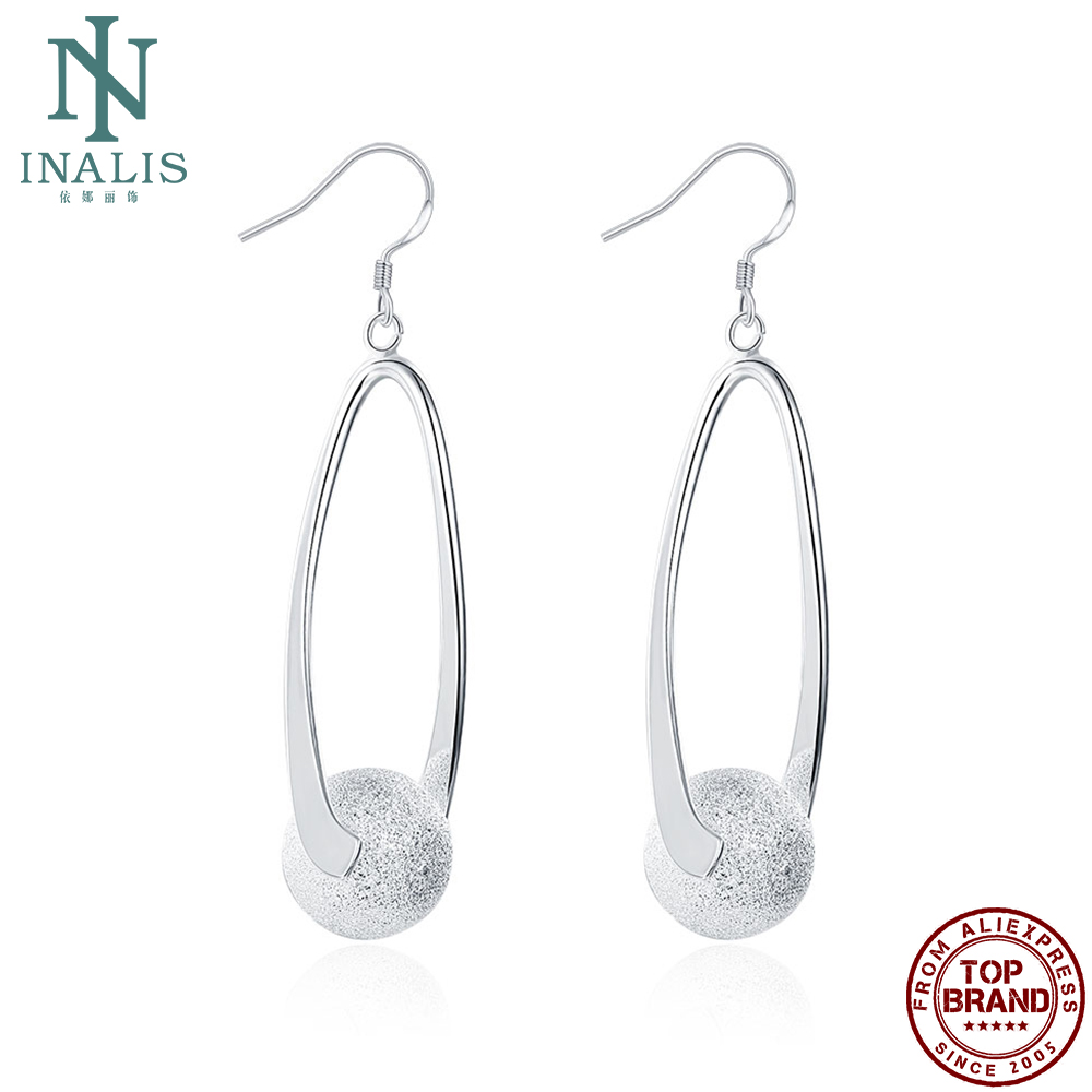 INALIS Earrings For Women Fashion Simple Sphere Design Drop Earrings Anniversary Wedding Jewelry Gifts Hot Selling 2021