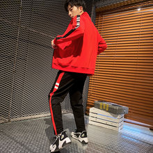 New fashion brand LOGO Zipper Tracksuit Men Set Sporting 2 Pieces Sweatsuit Men Clothes Printed Jacket Jogging Tracksuit(China)