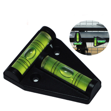 1 piece T type spirit level measurement instrument Triangular Plastic level indicator T-type spirit level bubble Shell aneng 32x7mm bulls eye bubble degree marked surface spirit level for camera circular