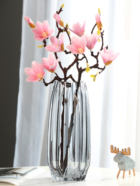 Vases Creative Large Glass Bottle Transparent Home Decor Hydroponic Terrarium Lily Rose Vase Living Room Flower Decoration 3