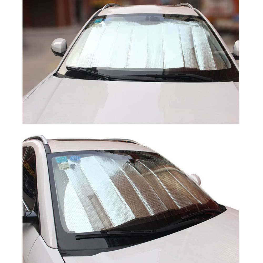 Car Sun Block Windshield Aluminum Foil Heat Insulation Auto Cover Front Window  Durable And Practical