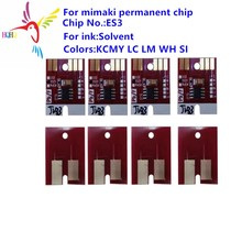 цены permanent ES3 Solvent chip for Mimaki JV3 JV33 JV34 CJV JV5 printer Solvent permanent chip ES3 Compatible for Mimaki printer