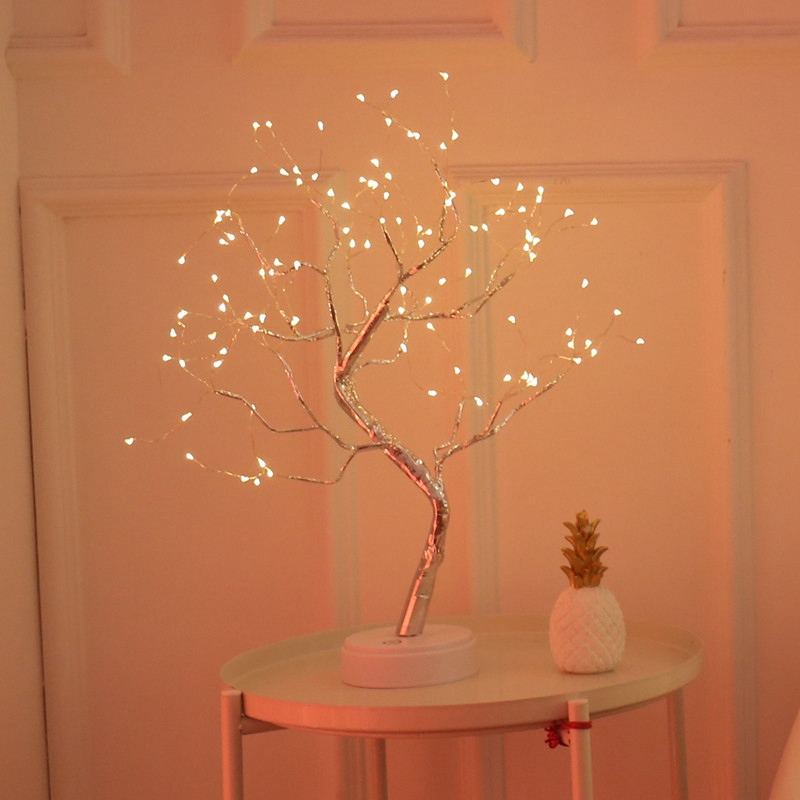 LED tree lights to send friends birthday gifts warm bedroom lights room decoration bedroom decorative lights